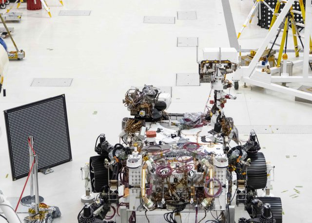 The Mars 2020 Perseverance rover Mastcam-Z instruments took images of a variety of near and far geometric calibration targets during camera testing in July, 2019.